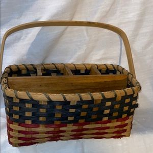 Other - Wicker 5 Compartment Basket